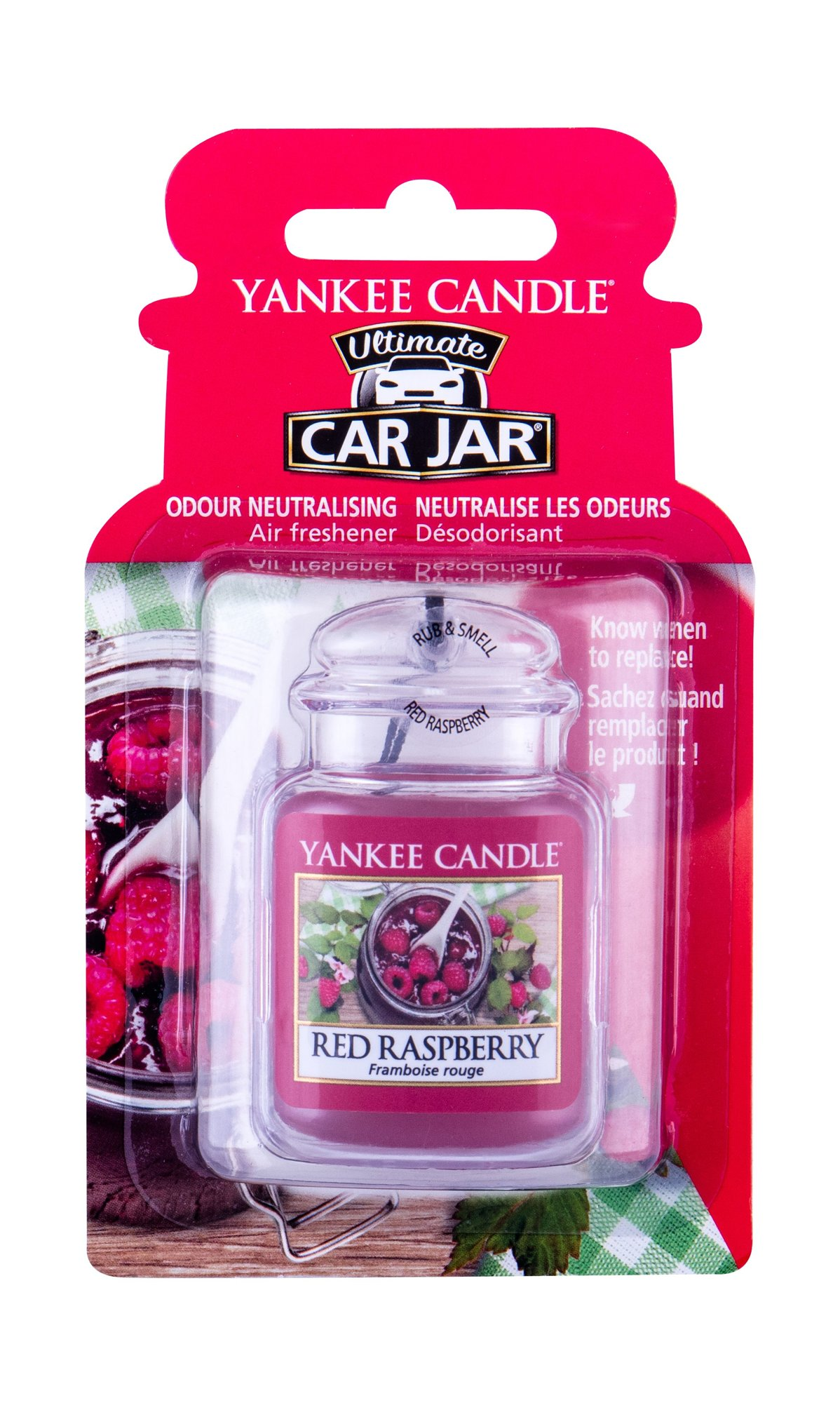 Yankee Candle Red Raspberry Car Jar (Vůně do auta, U, 1 ks)