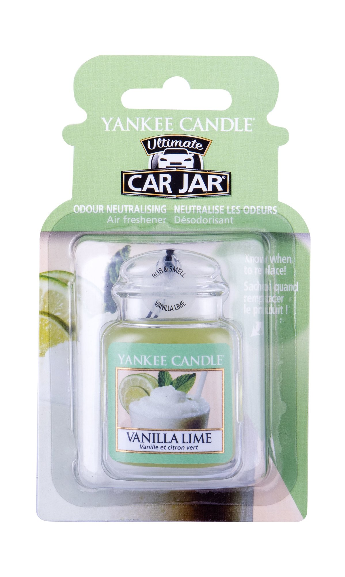 Yankee Candle Vanilla Lime Car Jar (Vůně do auta, U, 1 ks)