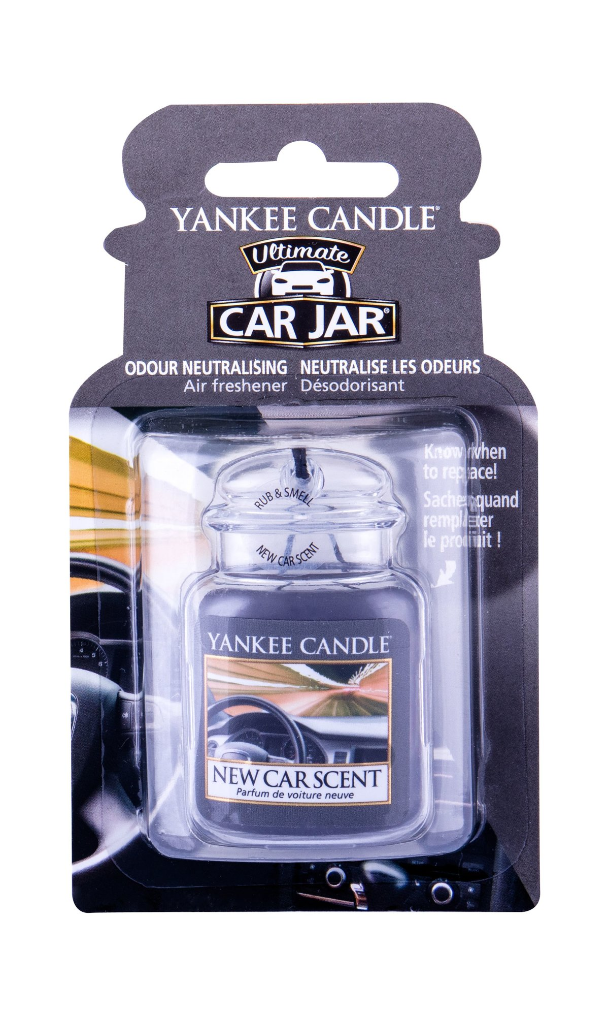 Yankee Candle New Car Scent Car Jar (Vůně do auta, U, 1 ks)