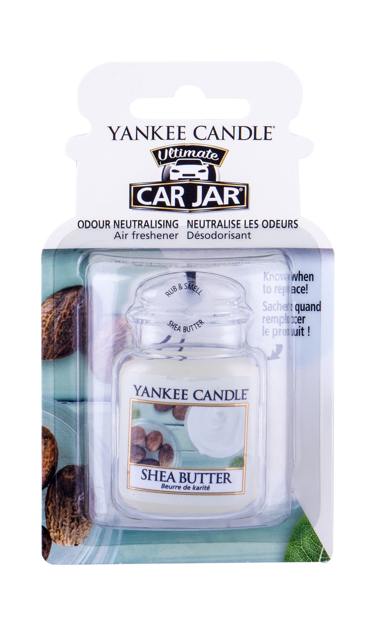 Yankee Candle Shea Butter Car Jar (Vůně do auta, U, 1 ks)