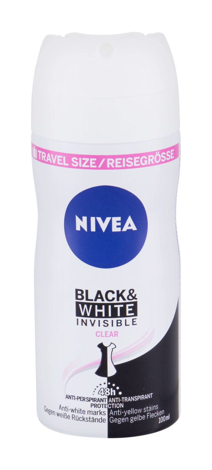 Nivea Invisible For Black & White 48h Antiperspirant, W, 100 ml