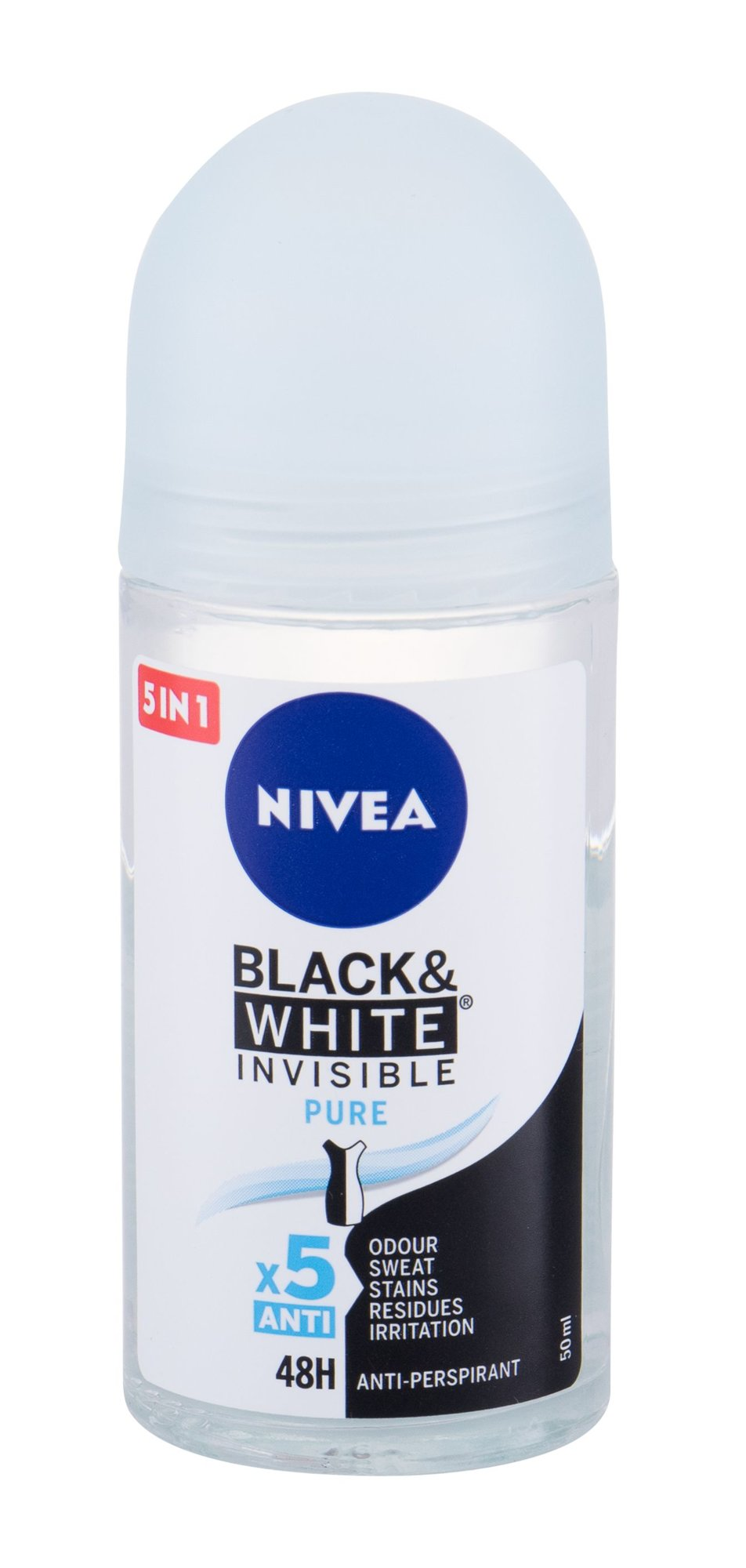 Nivea Invisible For Black & White 48h Antiperspirant, W, 50 ml