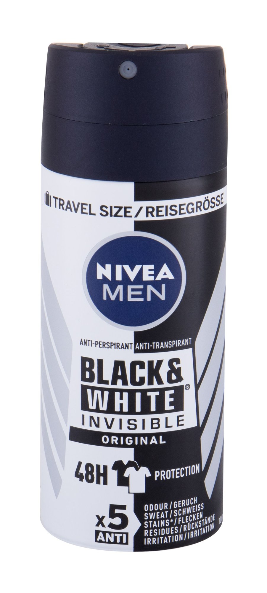 Nivea Men Invisible For Black & White 48h Antiperspirant, M, 100 ml