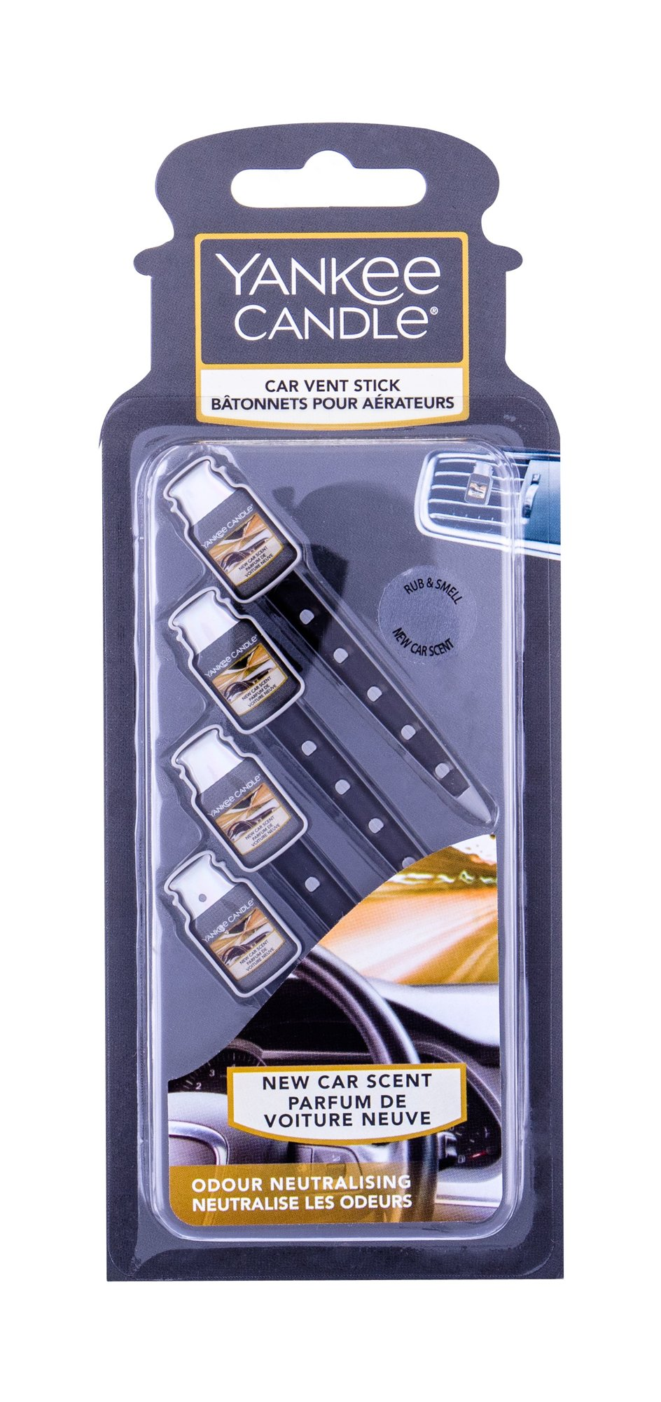 Yankee Candle New Car Scent Vent Stick (Vůně do auta, U, 4 ks)
